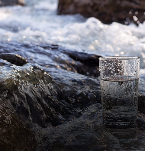 Pure  fresh spring water